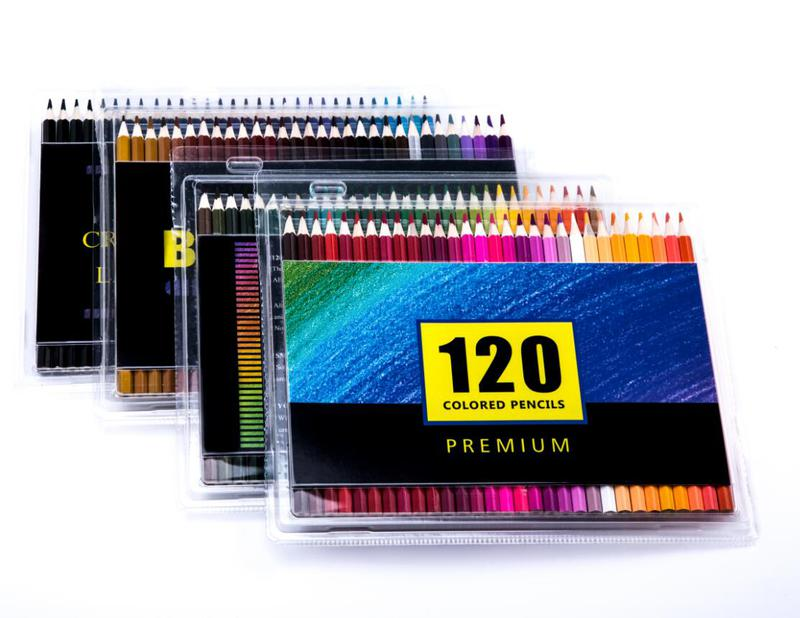 72 Pack Premium Artist Soft Colored Pencils set