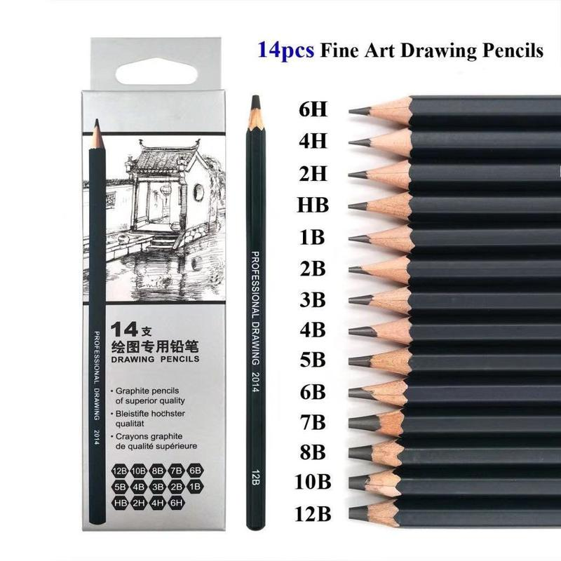 Professional Drawing Sketching Pencils Set-14